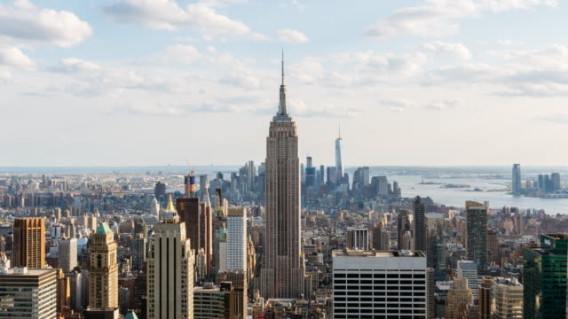 Time lapse daytime - New York city skyline with Empire State Building, USA