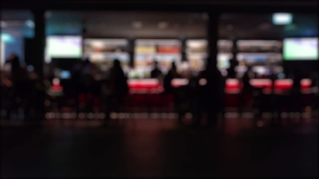 time lapse defocus night life - bar background stock videos & royalty-free footage