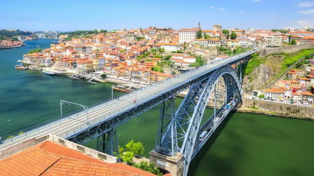 Intervalo de tempo em 4k : Ponte Dom Luís