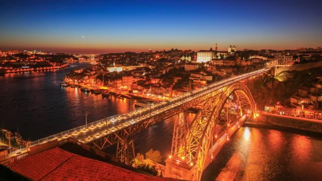 4k Zeitraffer : Dom-Luis-Brücke