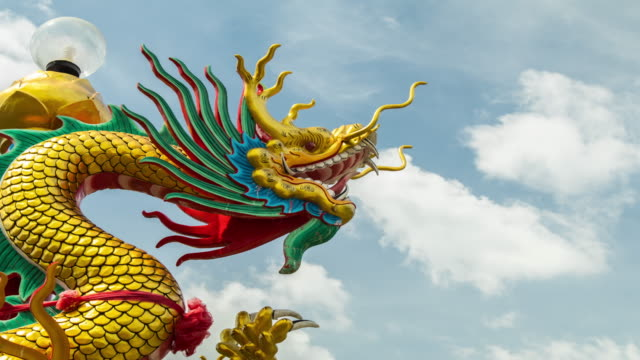 time lapse dragon chinese. - temple body part stock videos and b-roll footage