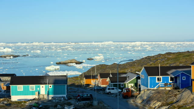 time lapse drifting ice floes climate change greenland - greenland stock videos & royalty-free footage
