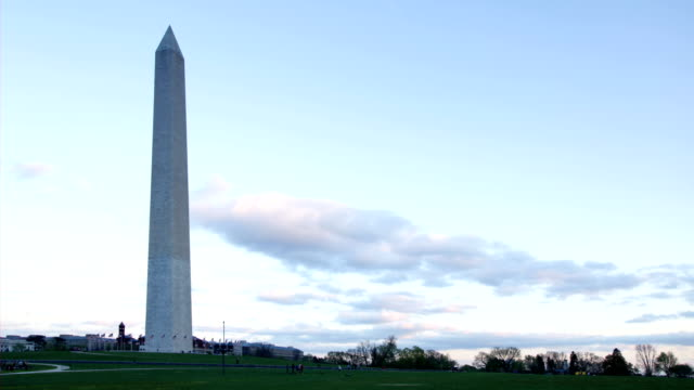 time lapse - dusk at the washington monument - washington monument stock videos & royalty-free footage
