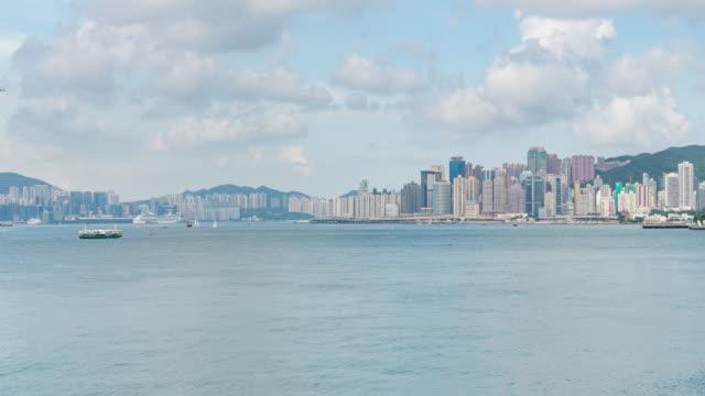 time lapse : early morning hong kong island, residential district of hong kong city, hong kong downtown - hong kong island stock videos & royalty-free footage
