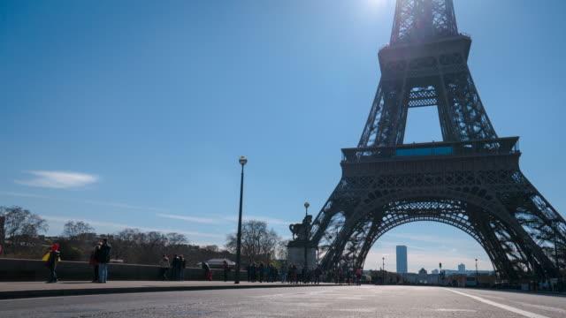 4K time lapse eiffel tower,Paris
