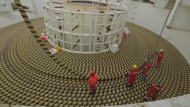 """time lapse electricity cables for offshore wind farm - """"bbc universal"""" stock videos & royalty-free footage"""