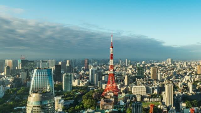 タイムラプス - 東京スカイラインの高い眺め - タイムラプス 点の映像素材/bロール