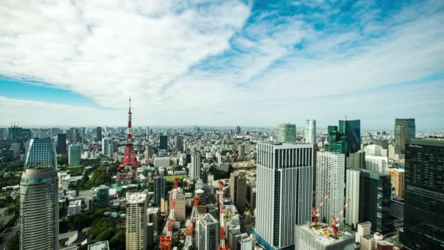 タイムラプス - 東京スカイラインの高い眺め - day点の映像素材/bロール
