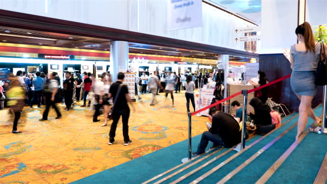 time lapse event technology - tradeshow stock videos & royalty-free footage