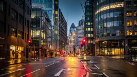 タイムラプス:ロンドンの金融街 - 英国 ロンドン点の映像素材/bロール