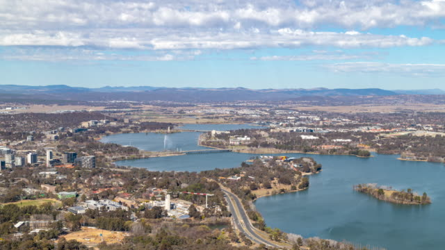 time lapse footage of canberra, australia. - downtown stock videos & royalty-free footage