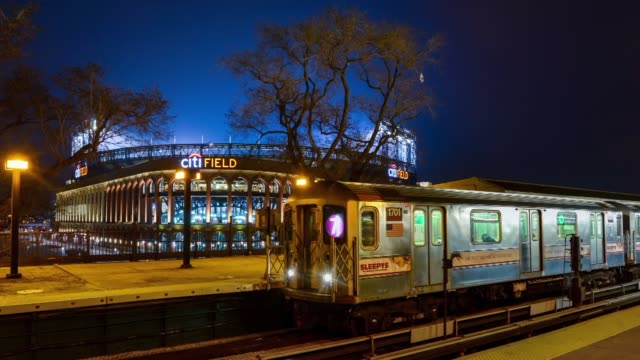 time lapse footage of citifield at night in queens new york time lapse shots of citifield as the sun sets in queens new york time lapse shots of... - flushing meadows corona park stock videos and b-roll footage