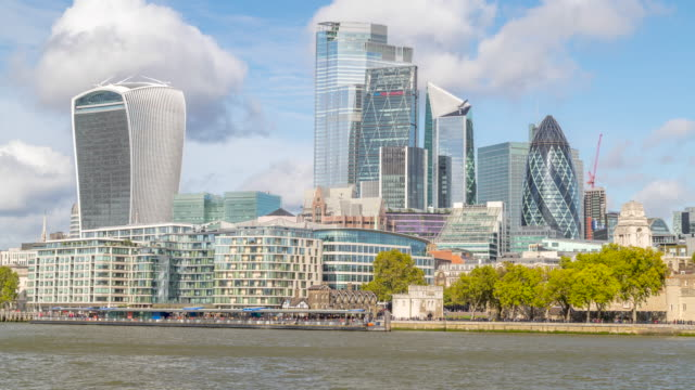 4k time lapse footage of city of london, uk. - waterfront stock videos & royalty-free footage