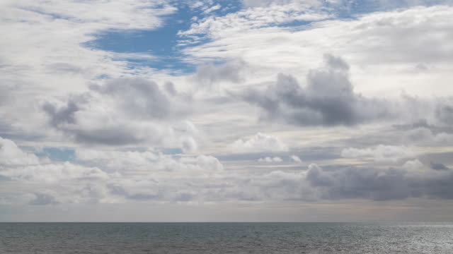 time lapse footage of clouds moving over english channel. - east sussex stock videos & royalty-free footage