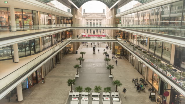 4k time lapse footage of mall of berlin in berlin germany - non us film location stock videos & royalty-free footage