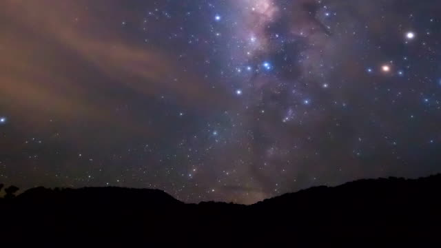 time lapse footage of milky way