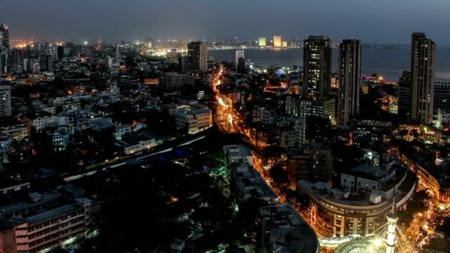 Time lapse footage of South Mumbai Skyline