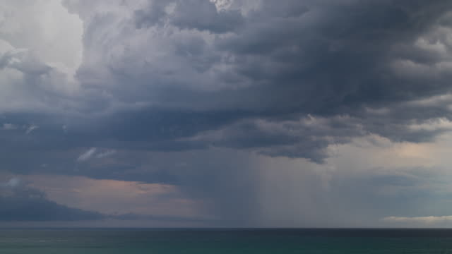 time lapse footage of storm over ocean - overcast stock videos & royalty-free footage