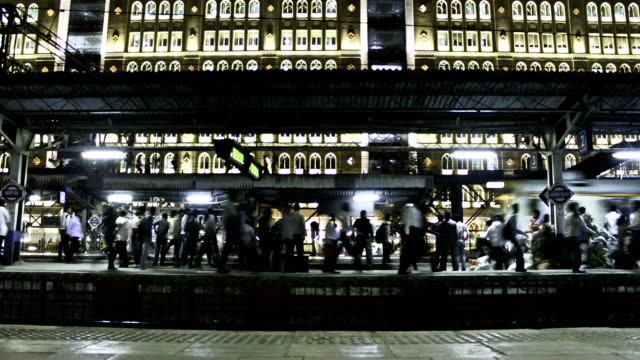 Time Lapse footage of trains from station platform