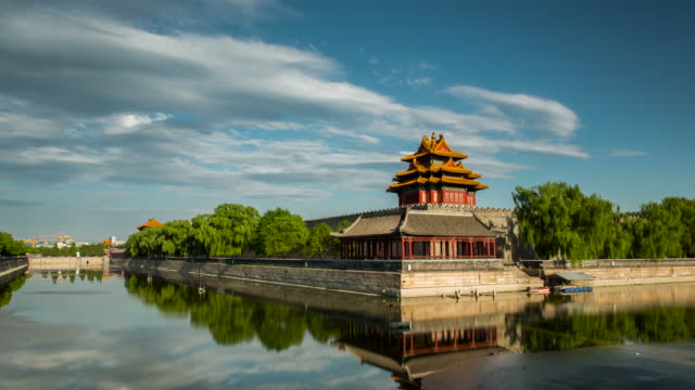time lapse- forbidden city, beijing (ws/ zoom) - beijing stock videos & royalty-free footage