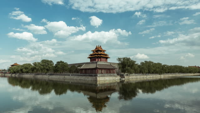 time lapse- forbidden city, beijing - forbidden city stock videos & royalty-free footage