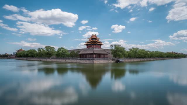 time lapse- forbidden city, beijing - forbidden city stock videos & royalty-free footage