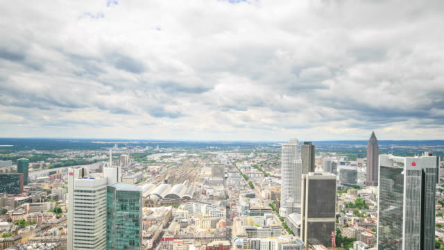 4K Time Lapse :Frankfurt banking district Skyline