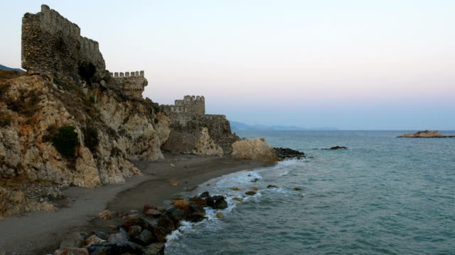 Time lapse from Medieval Castle in the Mediterranean coastline
