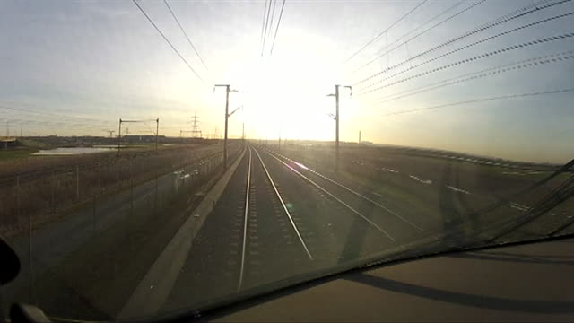 time lapse from the driver's cabin of a train - tunnel stock videos & royalty-free footage