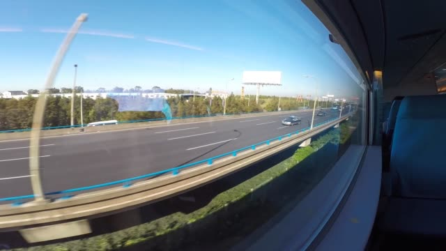 time lapse from the maglev train in shanghai. - schanghai stock-videos und b-roll-filmmaterial