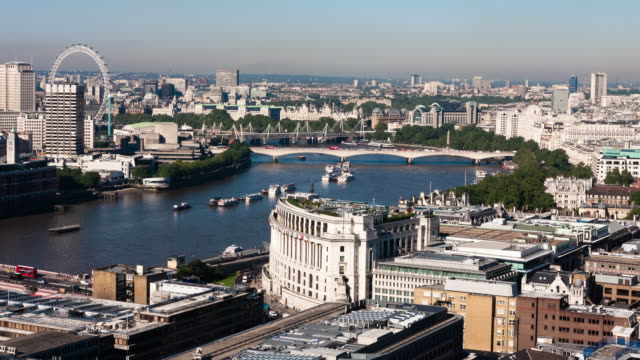 london - circa 2013: time lapse from the top of st. paul with panorama view of london - 2013 stock-videos und b-roll-filmmaterial