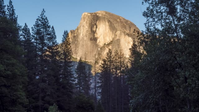 Time lapse from Yosemite Village of Half Dome and Yosemite Valley, Yosemite National Park, California, USA, North America