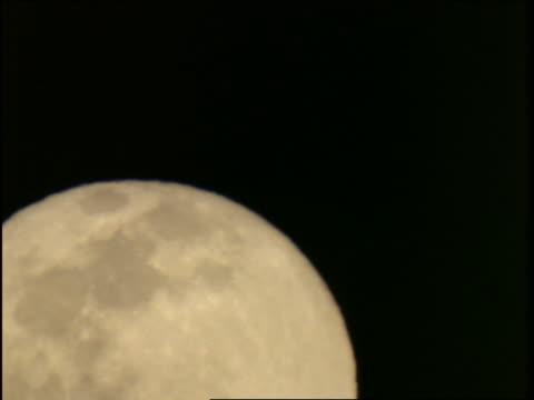 vídeos de stock e filmes b-roll de time lapse  full moon rising - cinematografia