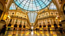 Time lapse Galleria Vittorio Emanuele II in Milan