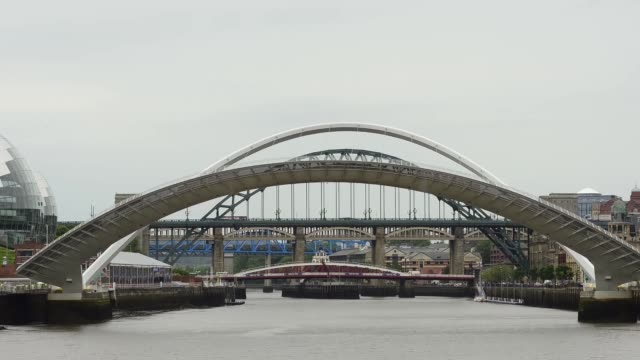 time lapse gateshead millennium bridge opening - gateshead stock videos and b-roll footage