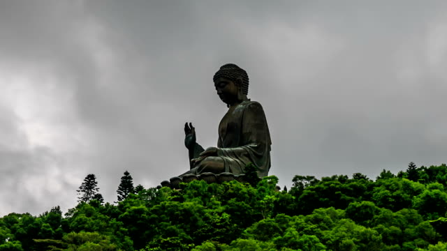 HD Time lapse : Giant Buddha in Hong Kong