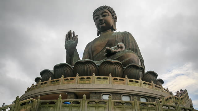 time lapse : giant buddha - buddha stock videos and b-roll footage