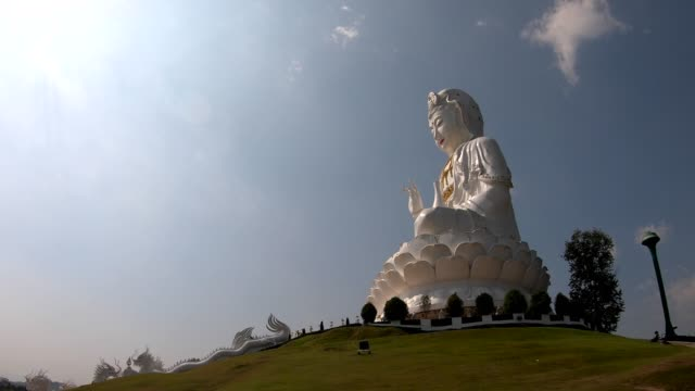 time lapse goddess of mercy or guan yin statue - guanyin bodhisattva stock videos & royalty-free footage