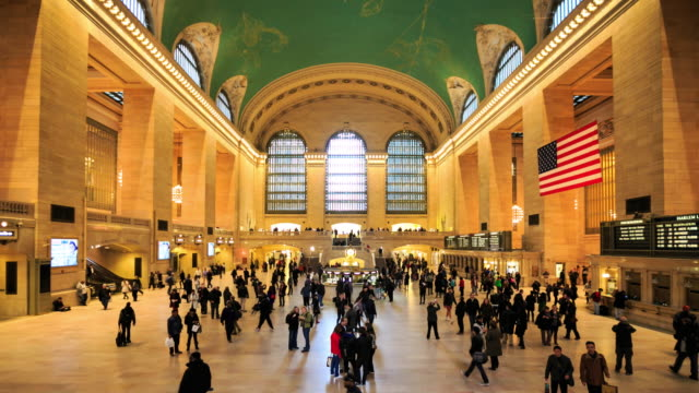 4K Time Lapse : Grand Central Station