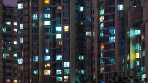 vídeos y material grabado en eventos de stock de tiempo lapso red apartamento en beijing (cu pan) - casa independiente