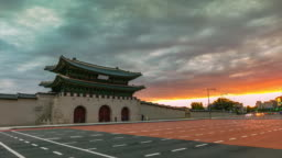 Time Lapse Gyeongbokgung Palace Seoul, South Korea