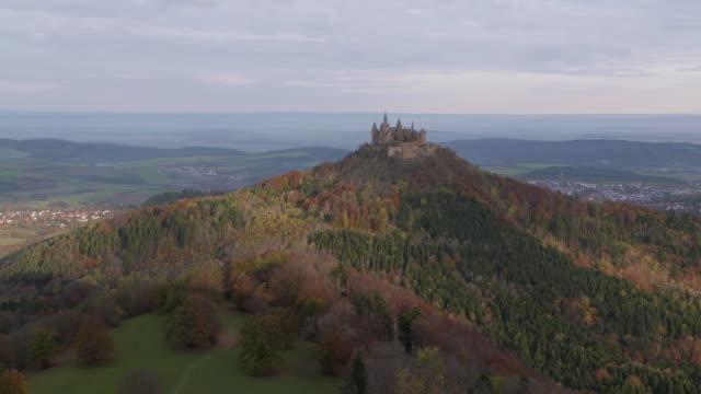 Time Lapse. Hohenzollern Castle. Hohenzollern Castle, Hechingen, Swabian Jura, Baden-Württemberg, Germany.