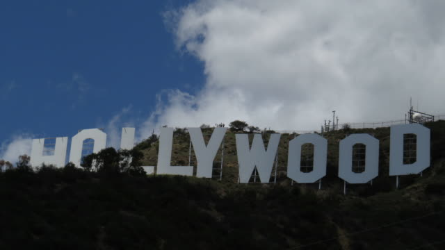 Time Lapse Hollywood Sign With Clouds