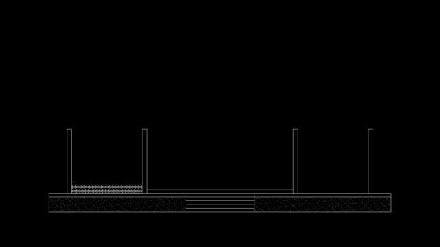 zeitraffer home layout schwarzem hintergrund. - wohngebäude innenansicht stock-videos und b-roll-filmmaterial