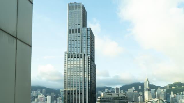 time lapse : hong kong, una città di uomini d'affari e investitori - victoria hong kong video stock e b–roll