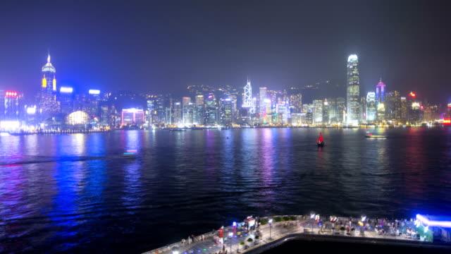 time lapse hong kong tsim sha tsui promenade - tsim sha tsui stock videos & royalty-free footage
