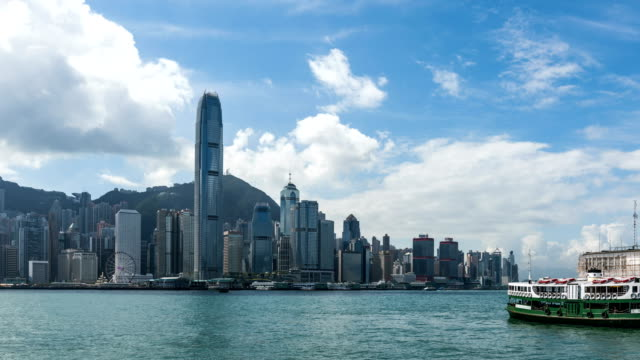 4K Time Lapse Hong Kong Victoria Peak and Star Ferry City scenery