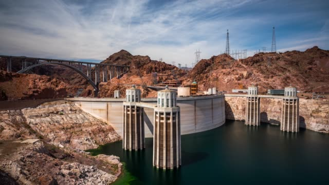 time lapse : hoover dam hydroelectric power, nevada,usa - lake powell stock videos and b-roll footage