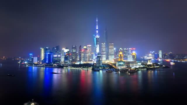 time lapse huangpu river oriental pearl tower shanghai - river huangpu stock videos & royalty-free footage