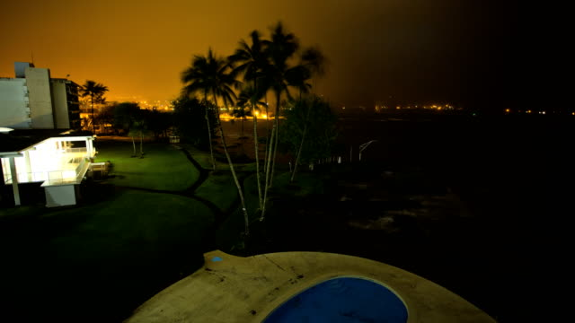 time lapse hurricane winds lightening big island hawaii - hilo stock videos & royalty-free footage
